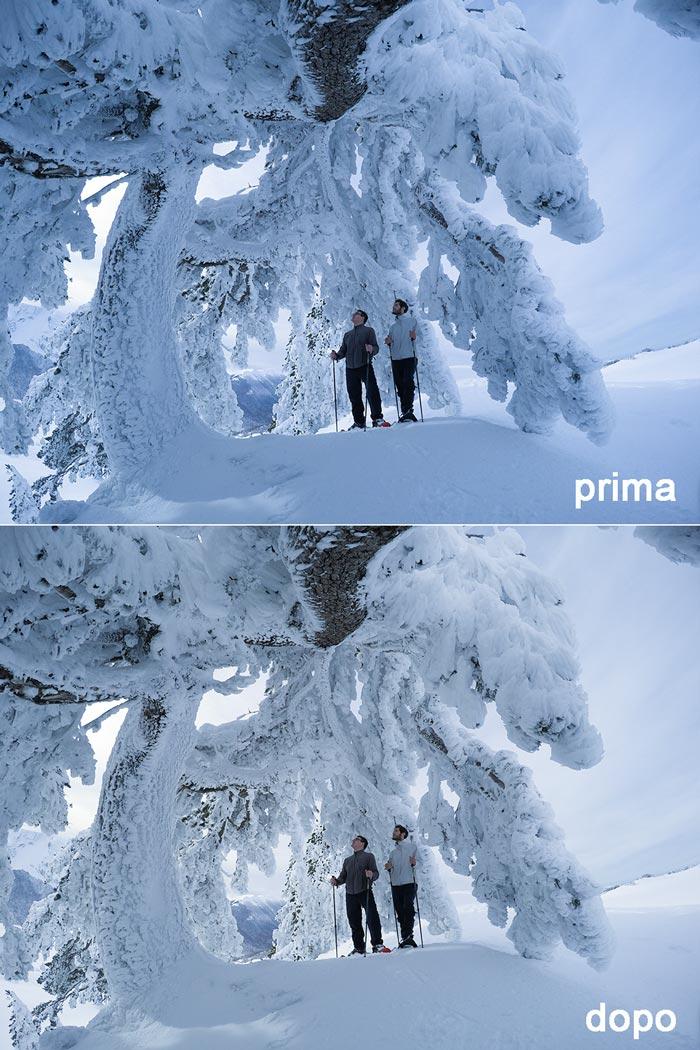 bilanciamento bianco per fotografare la neve